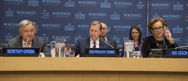 Secretary-General António Guterres addresses the Economic and Social Council (ECOSOC) operational activities for development segment