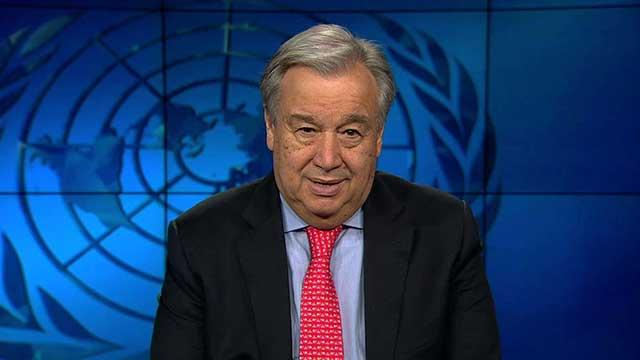 Video still: UN Secretary-General António Guterres
