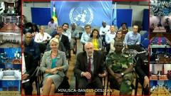 Video still: Peace and Security Town Hall Meeting