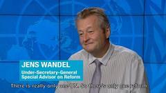 Video still: Special Adviser to the UN Secretary-General on Reforms, Mr. Jens Wandel